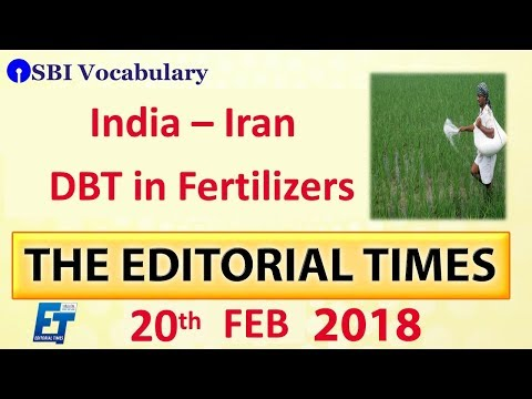 India - Iran | The Hindu | The Editorial Times | 20th Feb 2018 | Newspaper | UPSC | SSC | Bank