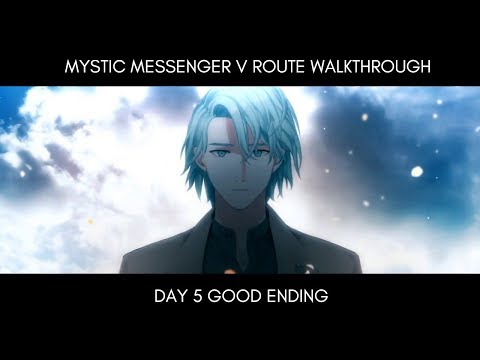 Good End Walkthrough - V Route Day 5 Mystic Messenger