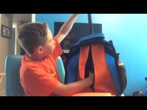 Nike blue rolling backpack