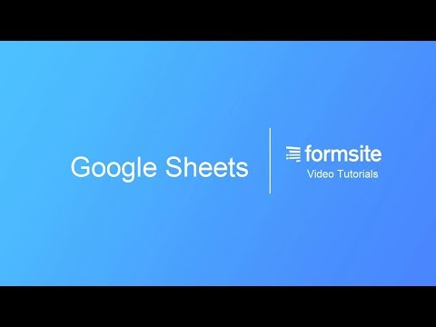Google Sheets – Formsite Support