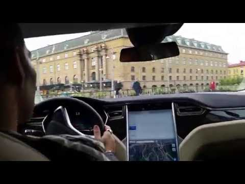 Sweden Gothenburg test driving Tesla Model S.Car by Milenkovic.