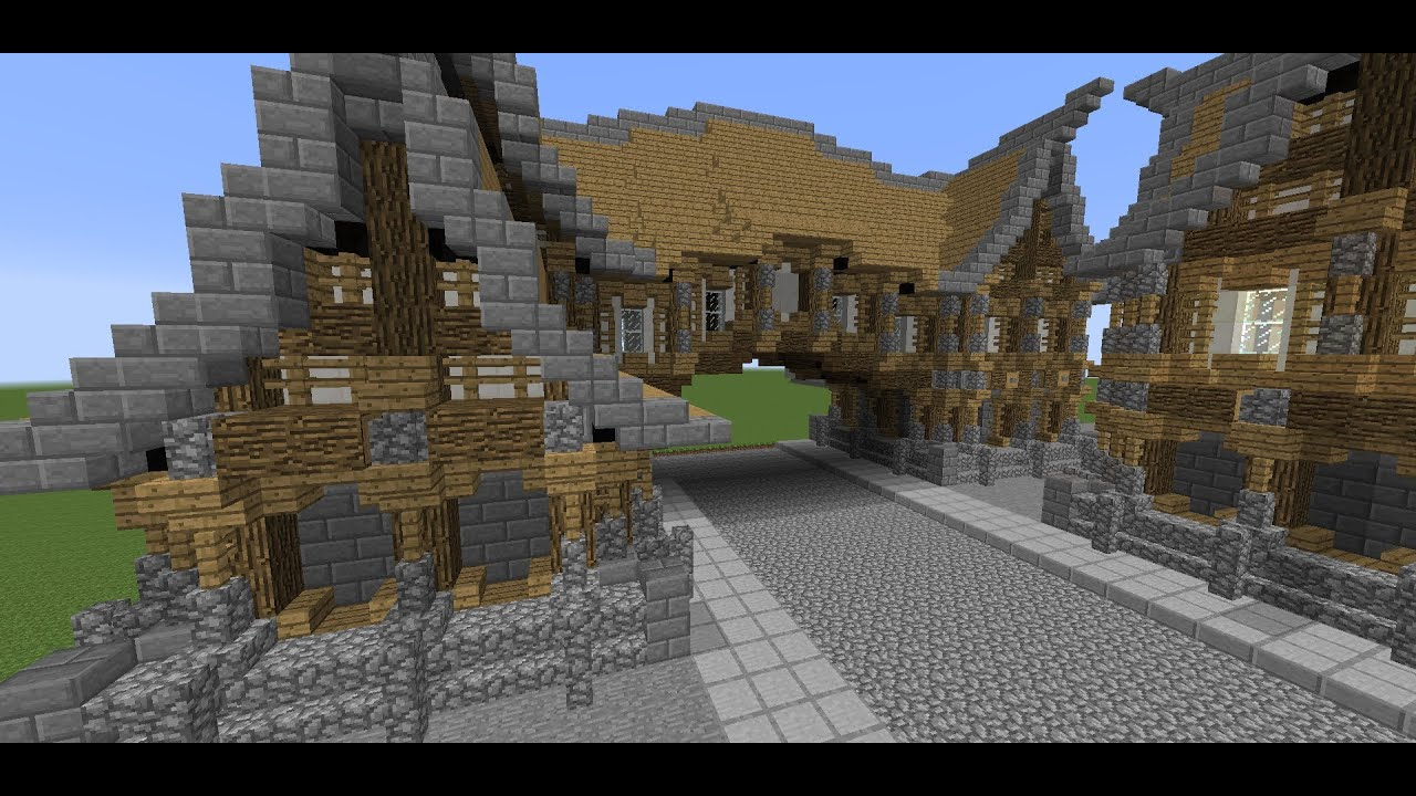 Minecraft tutorial medieval hanging street building how for How to build a victorian house