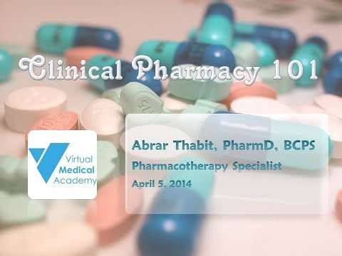 Clinical Pharmacy 101, Abrar Thabit - الصيدلة السريرية 101، أبرار ثابت