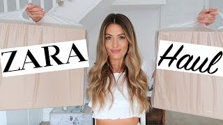 HUGE ZARA HAUL UNBOXING TRY ON AND GIVEAWAY - MAY 2018
