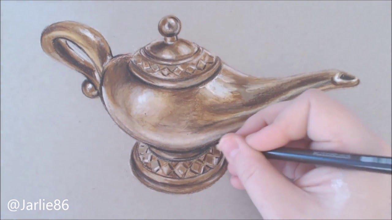 Speed art aladdins magic lamp hyperrealistic art by jarlie86