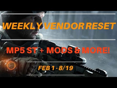 The Division - Weekly Vendor Reset Feb 1 - 8/19