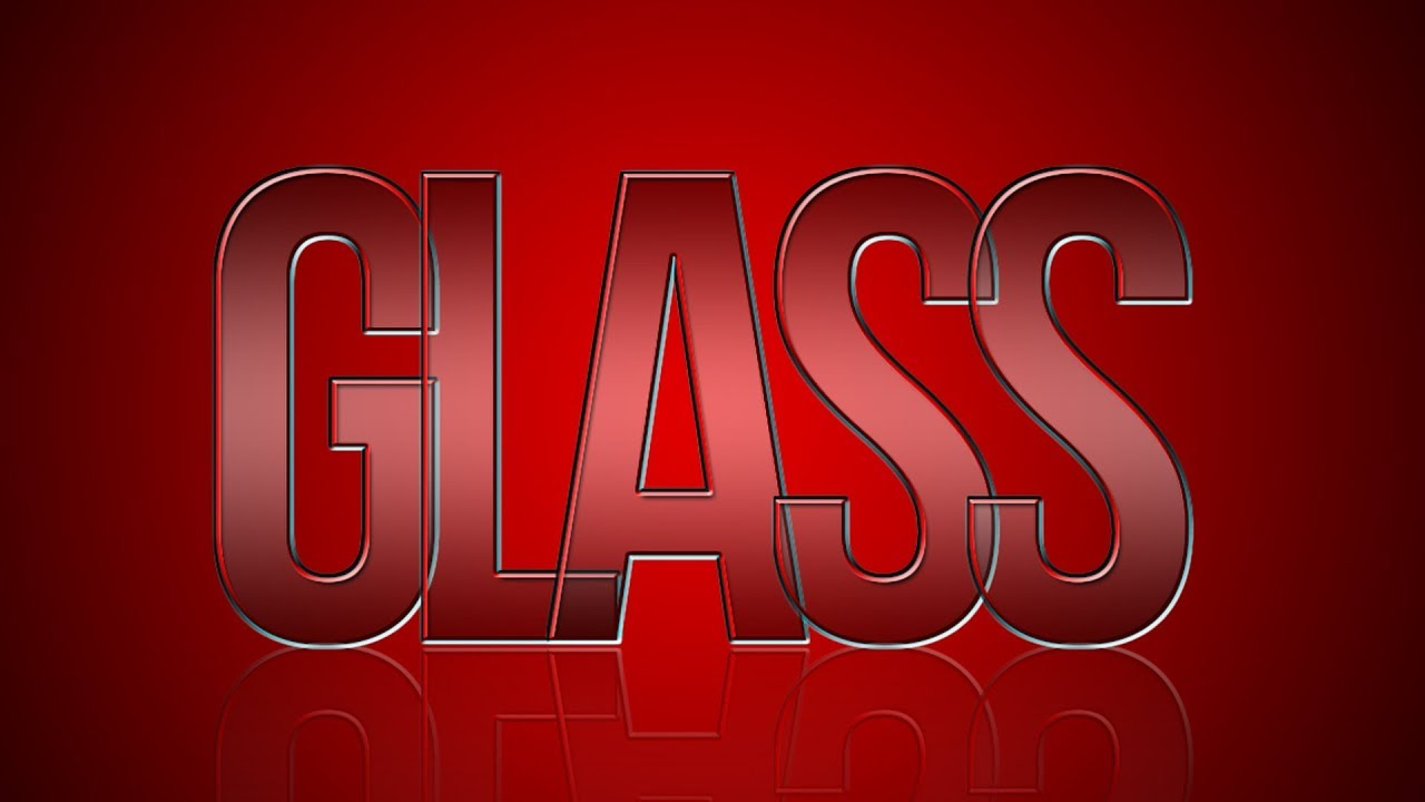 Create Glass Text Effect | Photoshop CS6 Tutorial