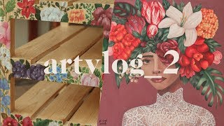 Oil Painting and First Furniture Painting | Art Vlog 02