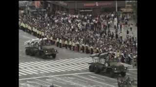 Предупреждающий военный парад в Южной Корее