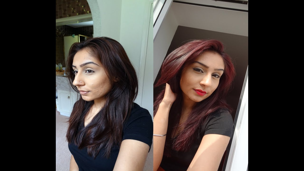 How To From Brown Hair To Cherry Red La Riche Directions
