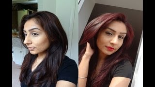Repeat youtube video How to: from brown hair to cherry red (la riche directions rubine)