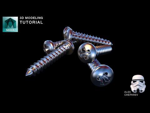 Modeling a Screw - Phillips Head - Helix, Soft Select, Wave Deformer