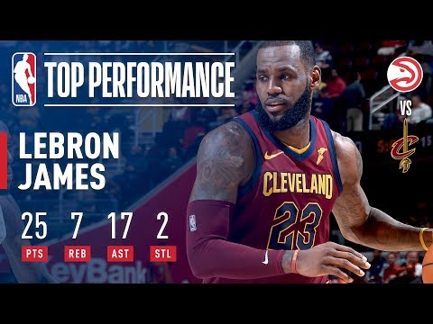 LeBron James Drops 25 pts & 17 asts vs The Atlanta Hawks