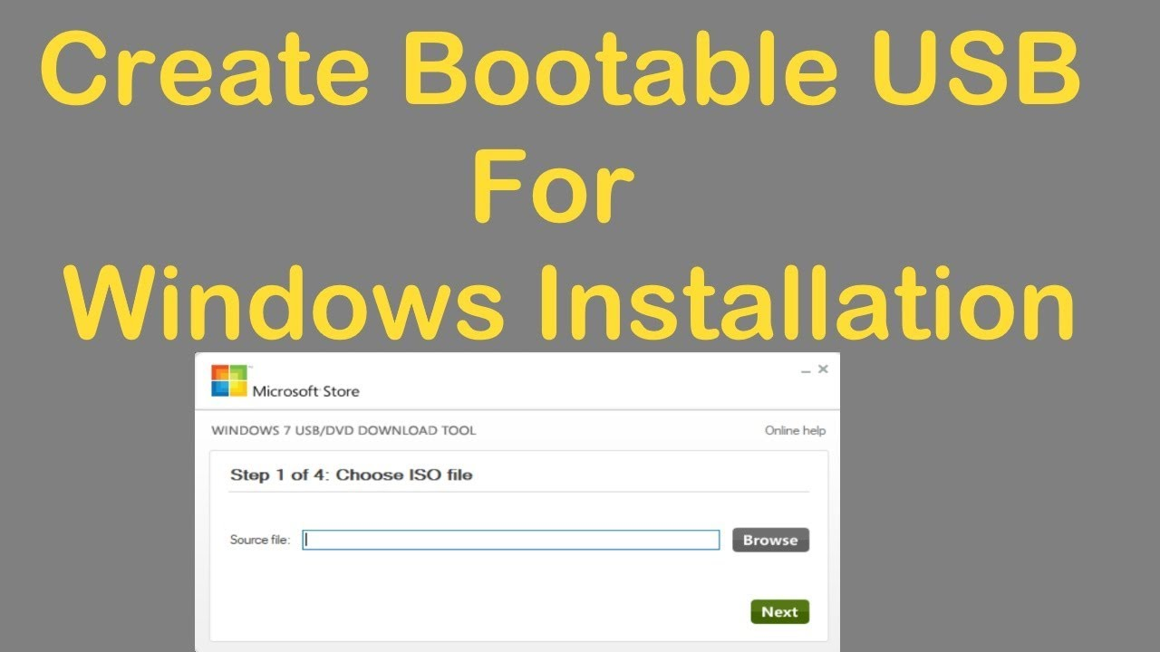 windows 7 usb boot software download