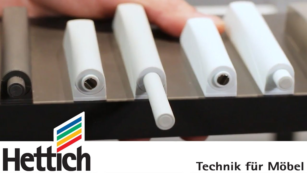 Push to open für Scharniere: Hettich Technik in Kürze