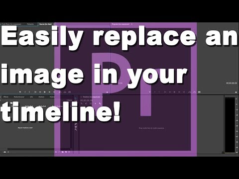 How to replace an image in Adobe Premiere
