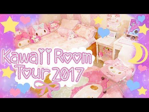 ❤Kawaii Room Tour 2017❤  My Melody part 1