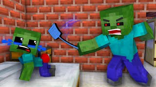 Monster School: Poor Baby Zombie and Sad Life - Sad Story - Minecraft Animation