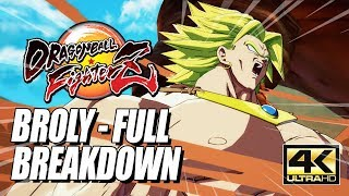 BROLY - Combos, Specials & Breakdown: DragonBall FighterZ (4k HD)