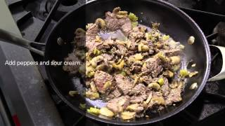 Jalapeno Ranch Skirt Steak Stroganoff Recipe