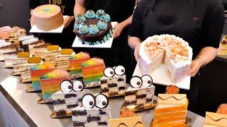 Как делают уникальный кусок торта в Южной Корее | Корейский десерт