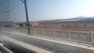 中国の高速鉄道の車窓 大連→瀋陽 その1(大连→营口东)