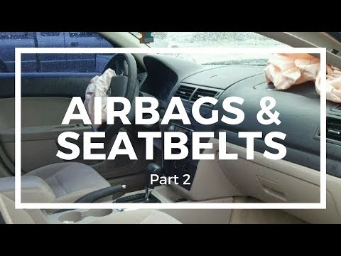 Fusion Rebuild -- Part 8 -- Airbags & Seatbelts Part #2 -- My First Copart Rebuild Project