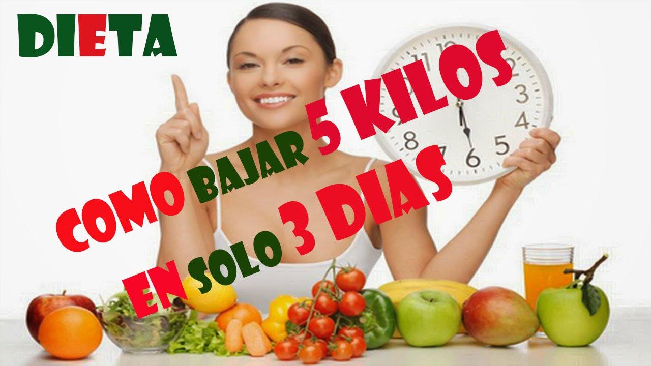Como bajar de peso 5 kilos en 3 dias en