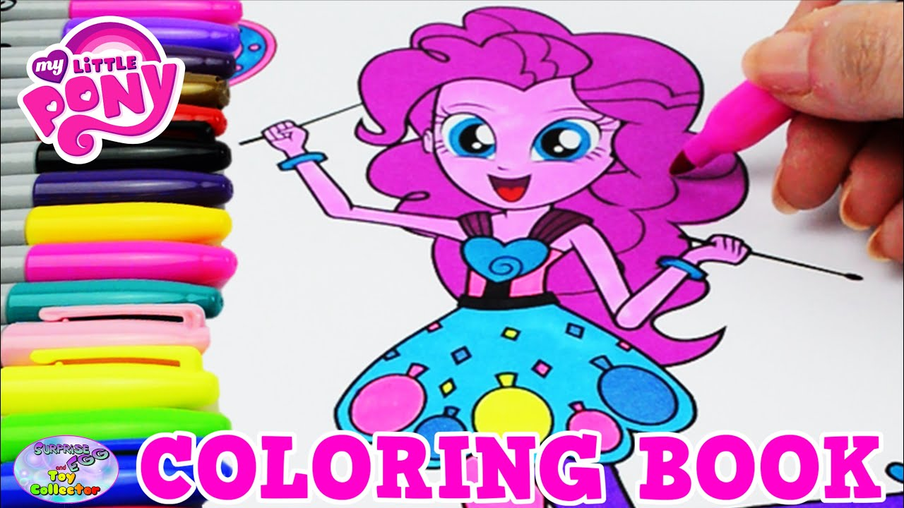 My Little Pony Coloring Book MLP EG Pinkie Pie Colors