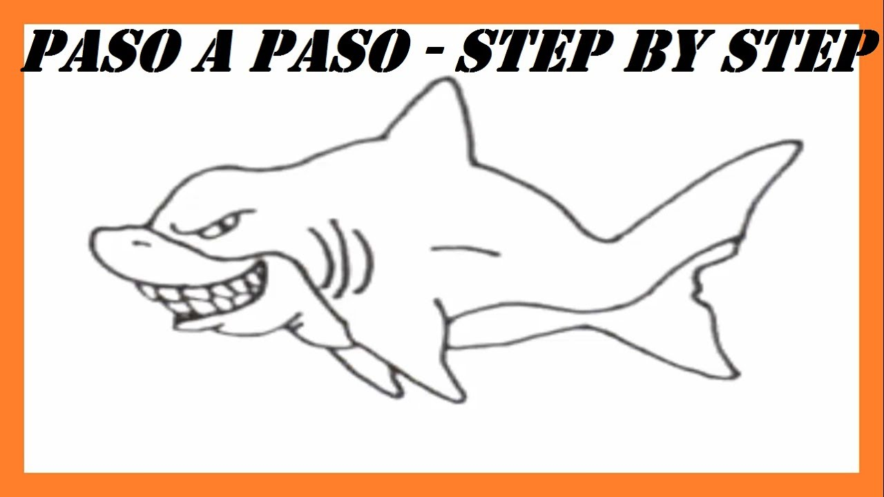 youtube how to draw a shark