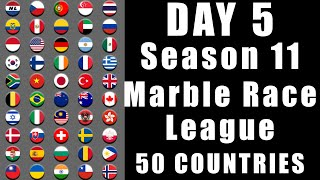 Marble Race League 2020 Season 11 Day 5 Marble Point Race in Algodoo / Marble Race King