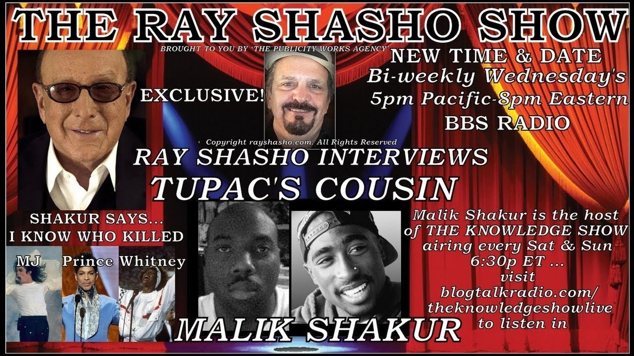 Tupac's Cousin Malik Shakur Thinks He May Still be Alive!