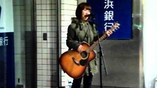 4月14日町田駅前「横浜銀行前」にて。
