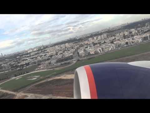 Aeroflot Boeing 777 - 300ER taking off Tel Aviv Ben Gurion airport