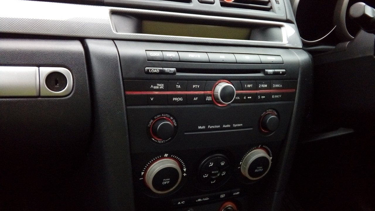 mazda 3 sport 2005 how to remove radio quick guide don t break your dashboard  [ 1280 x 720 Pixel ]