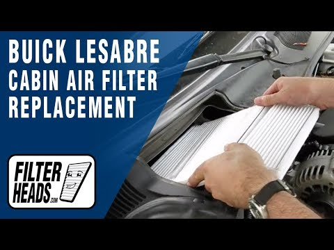 How To Replace Cabin Air Filter Buick Lesabre Youtube