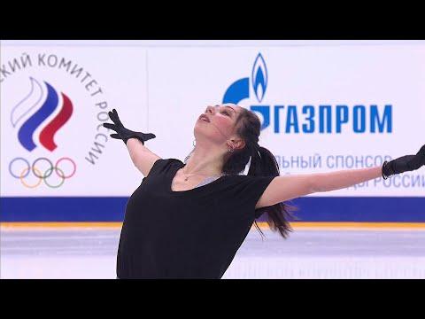 Елизавета Туктамышева. Тренировка. Короткая программа. Чемпионат России по фигурному катанию