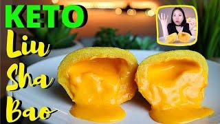 3GR -NET CARBS. Siêu Ngon Bánh Bao Kim Sa KETO Ăn Kiêng- The Best KETO Salted Egg Custard Lava Buns