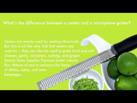 What's the difference between a zester and a microplane grater?