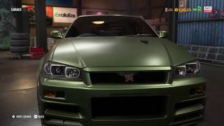 """""""GOD FOOT"""" Nissan Skyline GT-R V-Spec II Nur Initial D Customization - Need for Speed Payback"""