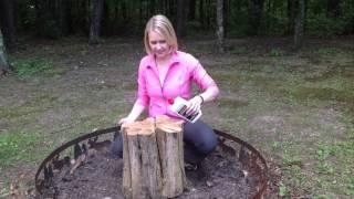 How to build a campfire inside one log