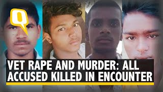 Hyderabad Vet Rape & Murder: All 4 Accused Killed in An Encounter At Spot of Crime | The Quint