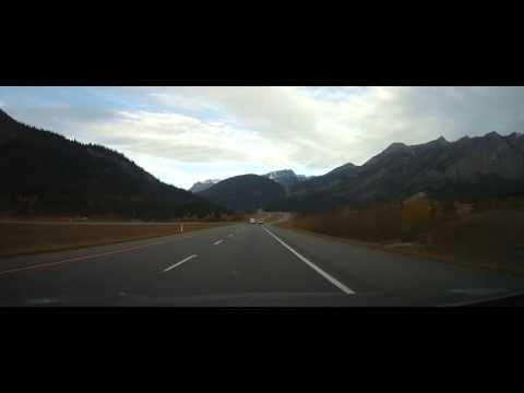Driving On Trans-Canada Highway Through The Rocky Mountains Part 1 (Calgary To Banff)