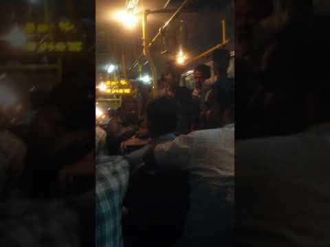 inside public transport bus in bangalore (india)