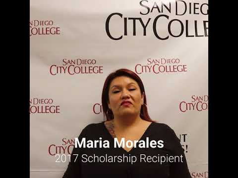 Friends of Downtown San Diego Scholarship recipient, Maria Morales, San Diego City College student