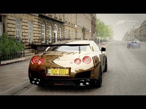 Forza Horizon 4| 1,000HP GOLD NISSAN GTR [Street Build] thumbnail