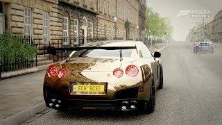 Forza Horizon 4| 1,000HP GOLD NISSAN GTR [Street Build]