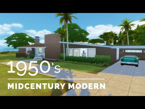 Sims 4  |  Decade Build Series  |  1950s Midcentury Modern