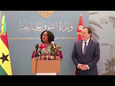 وزير الشؤون الخارجية يستقبل وزيرة الشؤون الخارجية والإندماج الإقليمي بجمهورية غانا