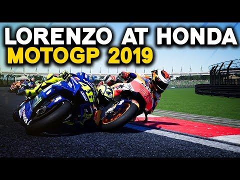 MOTOGP 2019: LORENZO ON THE 2019 HONDA!! | MotoGP 2019 Mod Gameplay